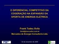 Competitividade da Cogeração na Expansão - Cogen