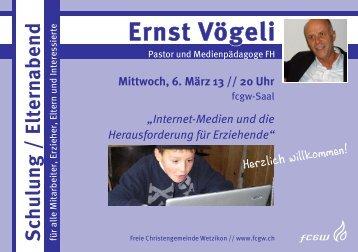 13-03-06 Schulung/Elternabend Internetmedien mit Ernst ... - FCGW