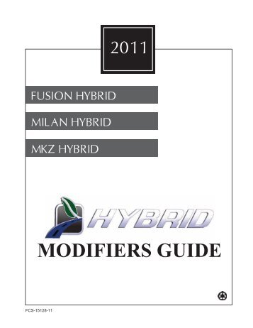 2011 MODIFIERS GUIDE - MotorCraftService.com