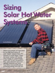 Home Power Sizing Solar Hot Water Systems