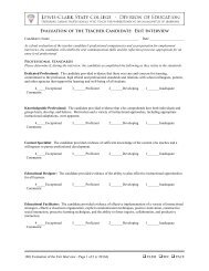 Form #: 180 - Evaluation of the Exit Interview - LCSC Education ...