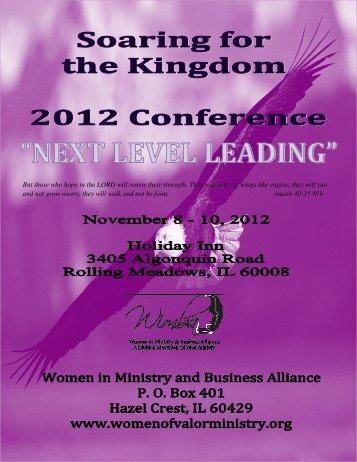 2012 conference handbook rev - Women of Valor