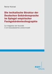 Die lexikalische Struktur der Deutschen ... - narr-shop.de