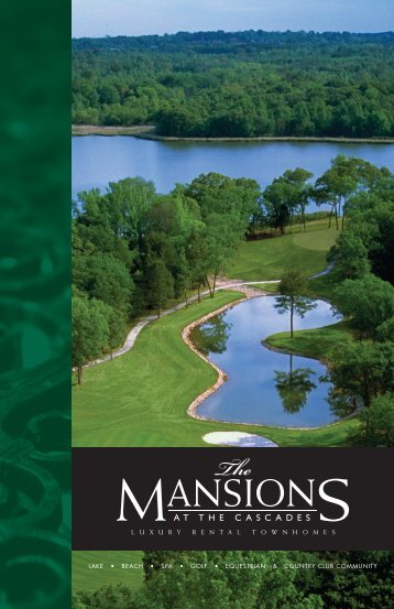View Mansions at the Cascades Brochure - Western Rim Property ...