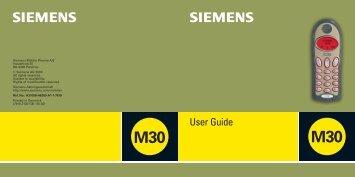User guide M30 GB