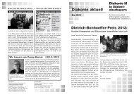 Dietrich-Bonhoeffer-Preis 2013 - Diakonische Werk Traunstein eV