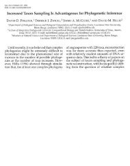 Increased Taxon Sampling Is Advantageous for ... - David Pollock
