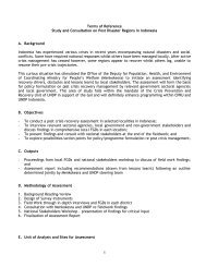 1 Terms of Reference Study and Consultation on Post Disaster ...