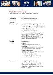 Alle Informationen zum Diplom-Lehrgang im Überblick - IFH