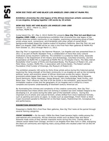 Now Dig This! Press Release