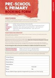 2013 Pre-School & Primary booking form - West Australian ...