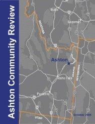 Ashton Community Review Final Report - Idaho Rural Partnership ...