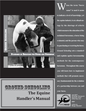 Download the workbook as a PDF - Federation of Horses in ...