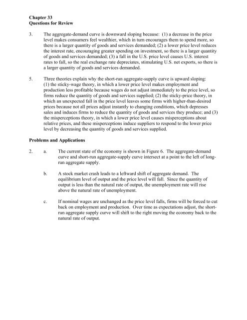 Mankiw Chapter 33 And 34 Answers
