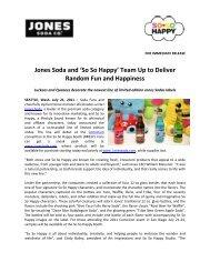 Jones Soda and 'So So Happy' Team Up to Deliver Random Fun ...