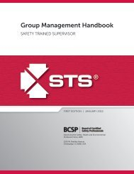 STS Group Management Handbook - Board of Certified Safety ...