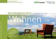Flyer Klimaforum 2012 - SEA-Arbeitsgemeinschaft Klima, Energie und ...