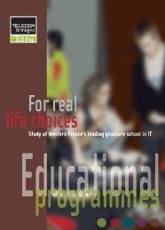 Educational programmes (pdf) - Télécom Bretagne