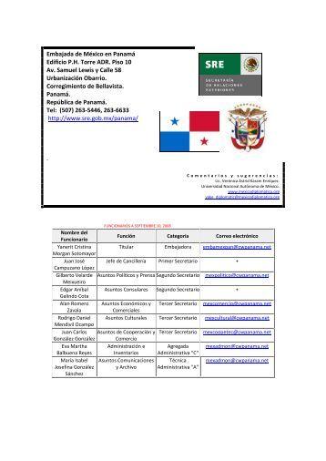 Embajada de México en Panamá - México Diplomático