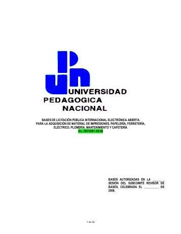 Bases para la Licitación Pública Internacional Electrónica Abierta ...