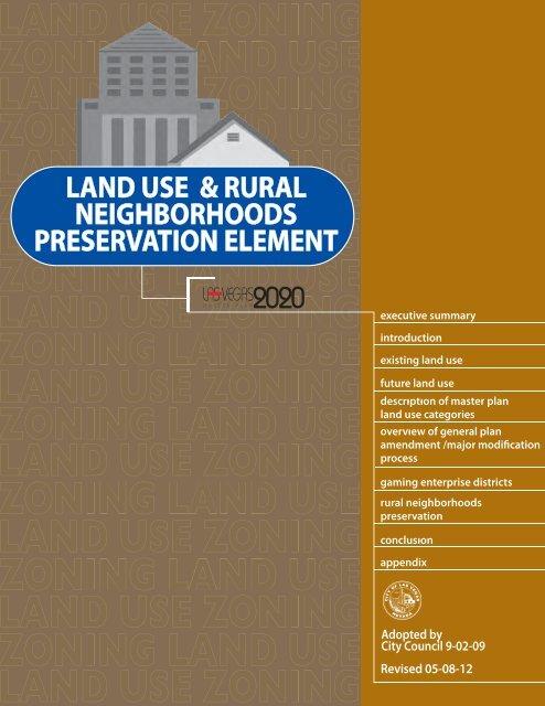 Land Use and Rural Neighborhoods ... - City of Las Vegas