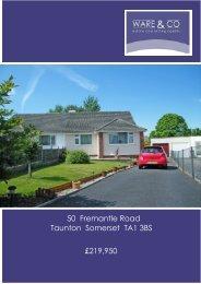 50 Fremantle Road Taunton Somerset TA1 3BS £219,950 - ISSL