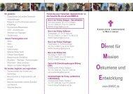 DiMOE-Flyer - Dienst für Mission, Ökumene und Entwicklung (DiMOE)