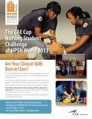 The CAE Cup Nursing Student Challenge at HPSN World 2013