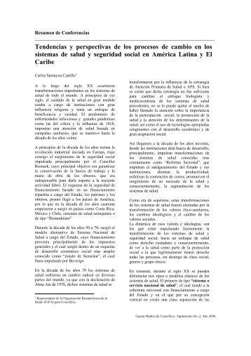 Tendencias y perspectivas de los procesos de cambio - CENDEISSS