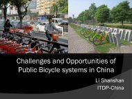 Challenges and Opportunities of Public Bicycle systems in China