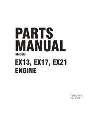 ex13 parts manual - wedophones com wedophones