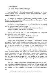 KRE Vorworte - Verlag Homöopathie + Symbol