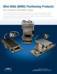 MMG Stage Datasheet - Ultra Compact Linear Motor Stages