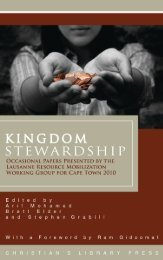 KiNGdOM StEwARdShiP - The Lausanne Global Conversation ...