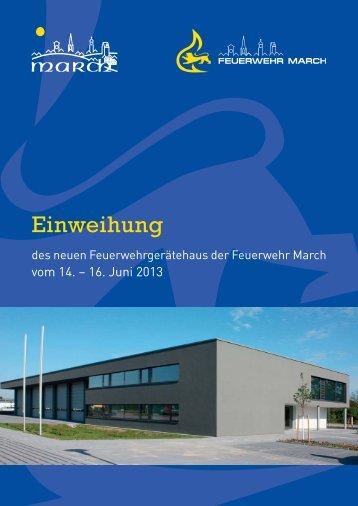 Festschrift zur Einweihung des neuen Feuerwehrgerätehauses vom ...