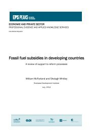 Fossil fuel subsidies in developing countries