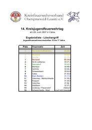 Ergebnislisten Kreisjugendfeuerwehrtag 2007 - KFV-OSL
