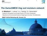 The SwissSMEX/-Veg soil moisture network - SMAP