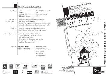 BACALAN + prog 12/17 - Association des centres d'animation de ...