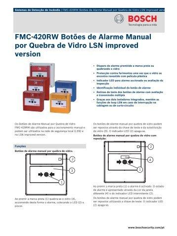FMC‑420RW Botões de Alarme Manual por ... - Alarmes Tucano