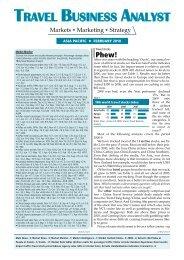 Feb 2010 - Travel Business Analyst