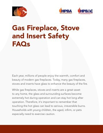 Gas Fireplace, Stove and Insert Safety FAQs - Hearth, Patio and ...