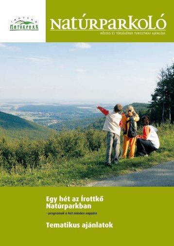 Natúrparkoló Kőszeg és térségének turisztikai ajánlója 5. szám