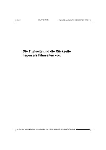 Die Titelseite und die Rückseite liegen als ... - Telekomunikacije
