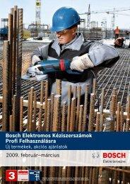 Bosch Elektromos Kéziszerszámok Profi Felhasználásra