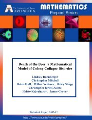 Death of the Bees: a Mathematical Model of Colony Collapse Disorder