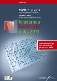 Download Final Report 2013 (PDF, 704 KB) - fensterbau/frontale india