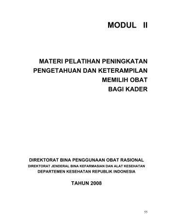 modul i - Direktorat Jenderal Bina Kefarmasian dan Alat Kesehatan ...