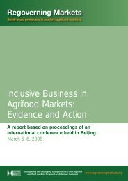 Inclusive Business in Agrifood Markets - Seas of Change Initiative