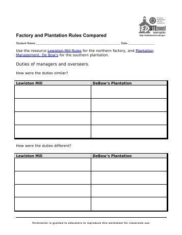 factory plantation rules.pdf - EDSITEment